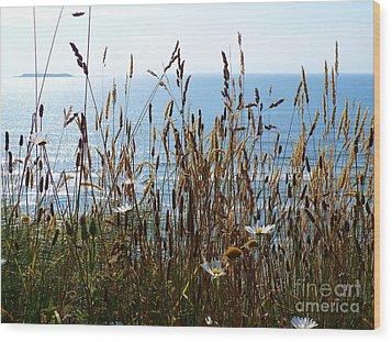 Sea Through Flora Wood Print by Gayle Swigart