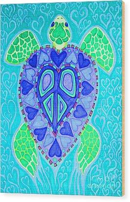 Sea Turtle Swim Wood Print