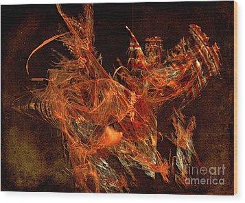 Sea Urchin Wood Print by Alexa Szlavics