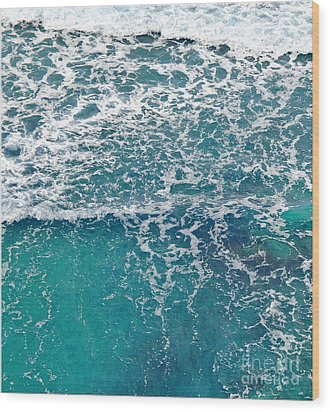 Wood Print featuring the photograph Sea View by Liz  Alderdice
