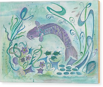 Sea World -painting Wood Print