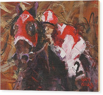 Seabiscuit Wood Print by Ron and Metro