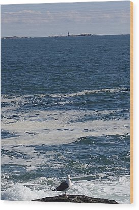 Wood Print featuring the photograph Seabreeze. by Robert Nickologianis