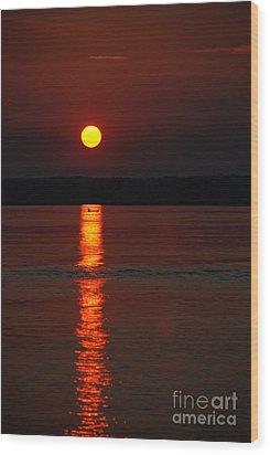 Seabrook Sunset Wood Print