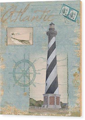Seacoast Lighthouse I Wood Print