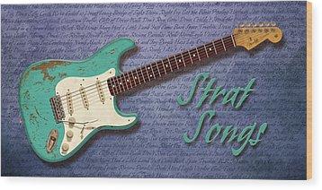 Seafoam Strat Songs  Wood Print