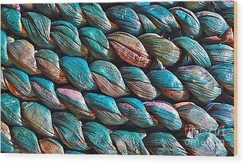 Seagrass Blue Wood Print by Linda Bianic