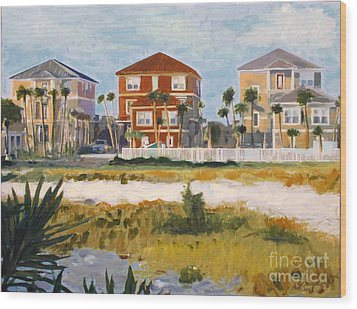 Seagrove Beach Houses Wood Print