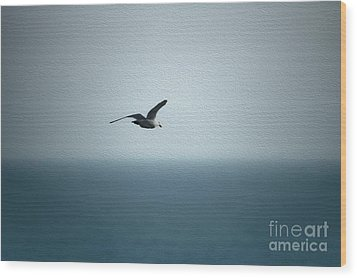 Seagull Wood Print by Nur Roy