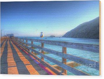 Seagulls And Ocean Wood Print