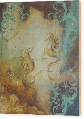 Seahorse Dream 1 Wood Print by Dina Dargo