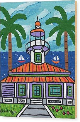 Seahorse Key Lighthouse Wood Print