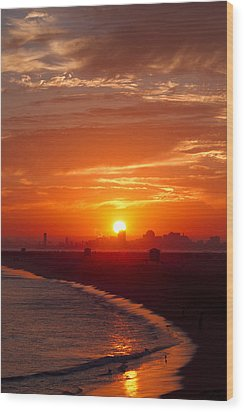 Seal Beach 7 Wood Print by Tom Kelly