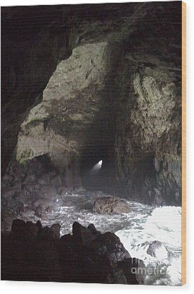 Seal Cave Wood Print by Jeff Pickett