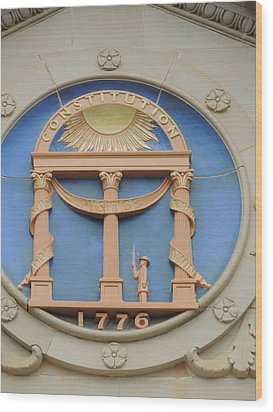Wood Print featuring the photograph seal of Georgia by Aaron Martens