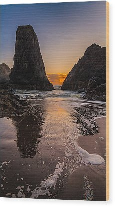 Wood Print featuring the photograph Seal Rock 1 by Jacqui Boonstra