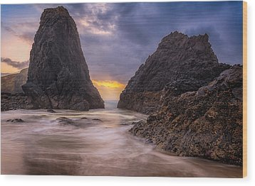 Wood Print featuring the photograph Seal Rock 2 by Jacqui Boonstra