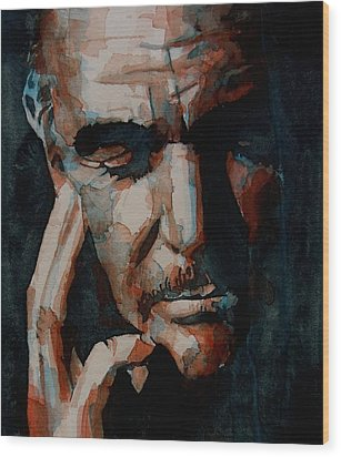 Sean Connery  Wood Print by Paul Lovering
