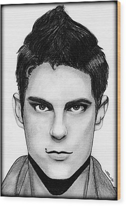Sean Faris Wood Print by Saki Art
