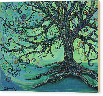 Searching Branches Wood Print by RK Hammock