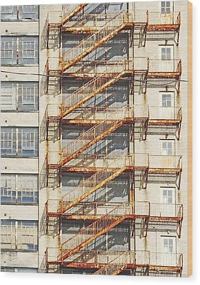 Sears Crosstown Fire Escape Memphis Tn Wood Print by Lizi Beard-Ward