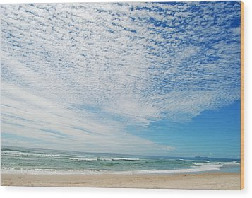 Wood Print featuring the photograph Seascape 2 by Ankya Klay