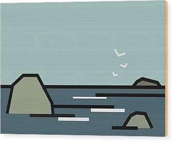 Seascape 3 Wood Print by Kenneth North