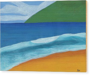 Seascape Wood Print by Bav Patel