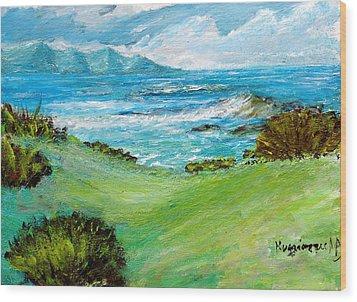 Seascape Wood Print by Mauro Beniamino Muggianu