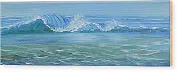 Seascape Wave IIi Wood Print