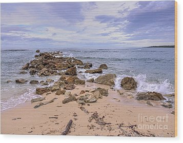 Wood Print featuring the photograph Seascape With Rocks by Jola Martysz