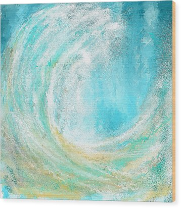 Seascapes Abstract Art - Mesmerized Wood Print