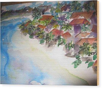 Seashore In Bali Wood Print