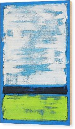 Seaside - Abstract Modern Art By Sharon Cummings Wood Print by Sharon Cummings