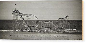 Seaside After Sandy Wood Print