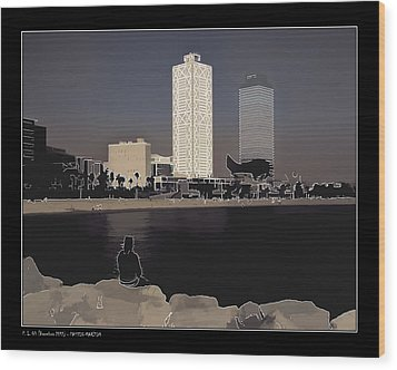 Wood Print featuring the photograph Seaside Boulevard by Pedro L Gili