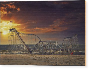 Seaside Coaster Wood Print by Kim Zier