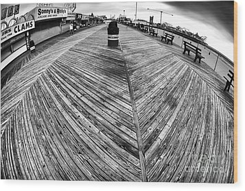 Seaside Distorted Wood Print by John Rizzuto