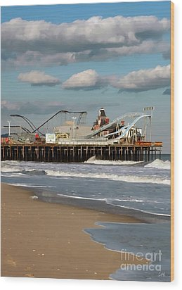 Seaside Heights Roller Coaster 2 Wood Print