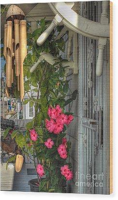Seaside Porch Wood Print by Joann Vitali