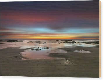 Seaside Reef Sunset 14 Wood Print by Larry Marshall