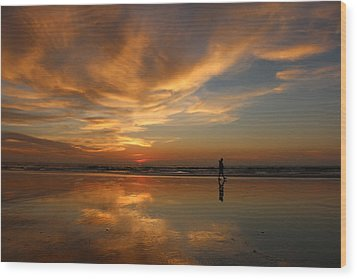 Wood Print featuring the photograph Seaside Reflections by Christy Pooschke