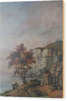 Wood Print featuring the painting Seaside by Tigran Ghulyan