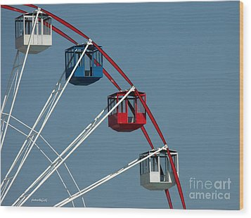 Seaside's Ferris Wheel Wood Print