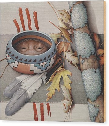 Season Of Remembrance Wood Print by Amy S Turner