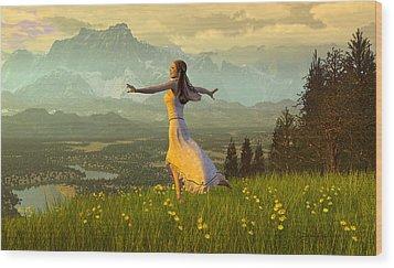 Season Of The Dance Wood Print by Dieter Carlton