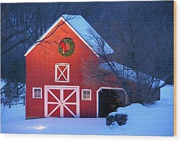 Seasons Greetings Wood Print by Thomas Schoeller