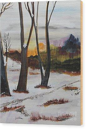 Seasons Wood Print by Jack G  Brauer