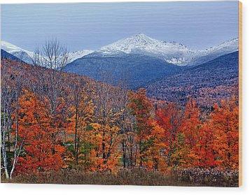 Seasons' Shift #2 - Mount Washington - White Mountains Wood Print by Nikolyn McDonald