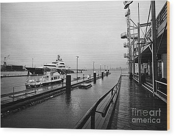 seaspan marine tugboat dock city of north Vancouver BC Canada Wood Print by Joe Fox